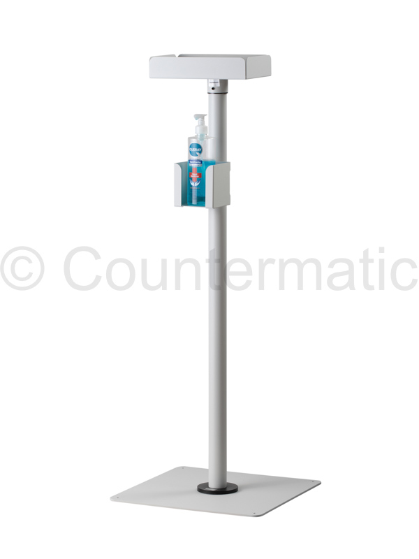 Hand Sanitzer Floor Stand in off-white