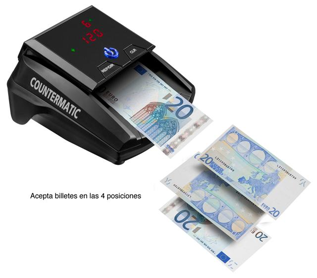 Countermatic Detector de billetes falsos Incluye bate/ía