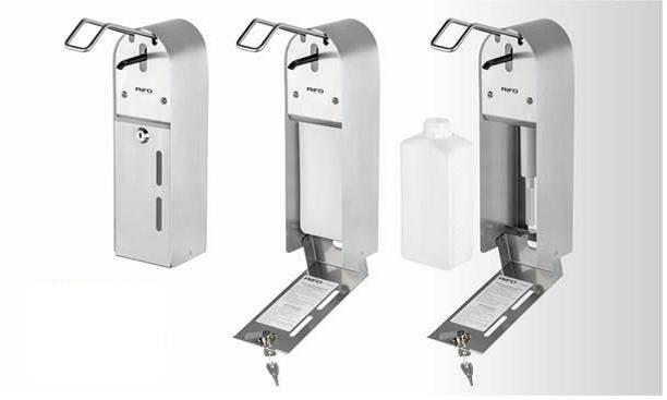 Wall Mount Stainless Steel contactless sanitizer dispenser