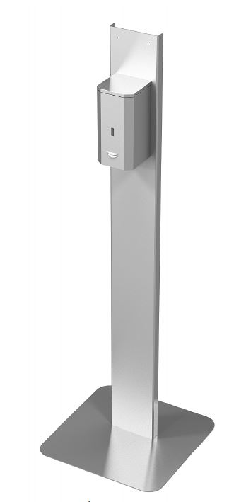 Touchless hand sanitizer dispenser mount.Stainless steel made