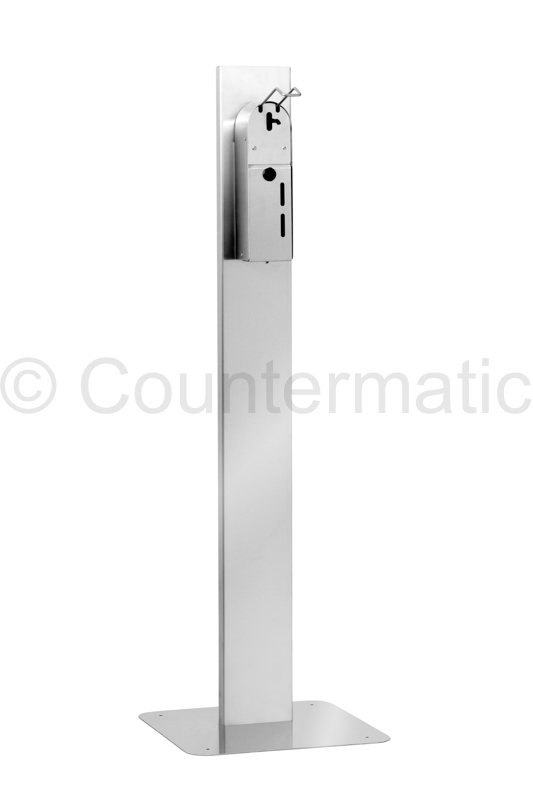 Floor Stand for hand sanitizer gel dispenser. Made of Stainless Steel