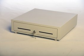 Cash Drawer Counter 41 white colour | Cash Drawer with Horizontal Opening
