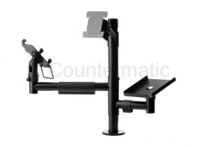 VESA 75/100, pinpad and printer holders in a POS mounting solutions | Ergonomic Mounting Solutions at the Point of Sale