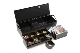 Portable cash drawer for offices | Flip-Top Cash Drawers