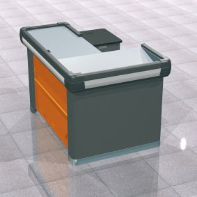 1500 L-Shape checkout counter | Supermarket checkout counter