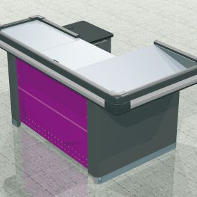 L-Shape 1700 checkout counter | Supermarket checkout counter