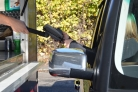 DRIVE THRU Handle for VERIFONE card payment terminals