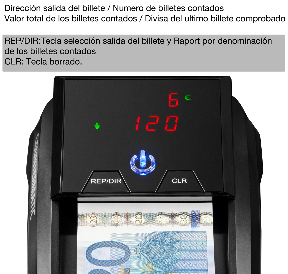 detector billete falso countermatic