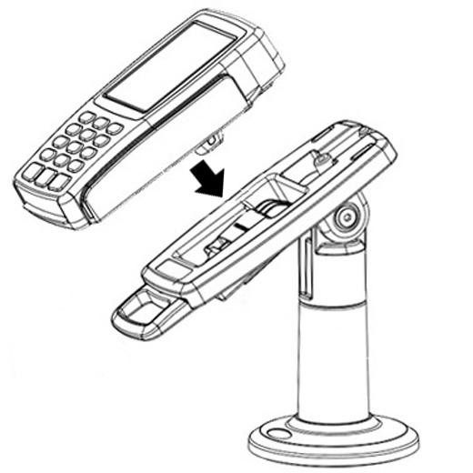 soporte terminal de pago verifone vx805