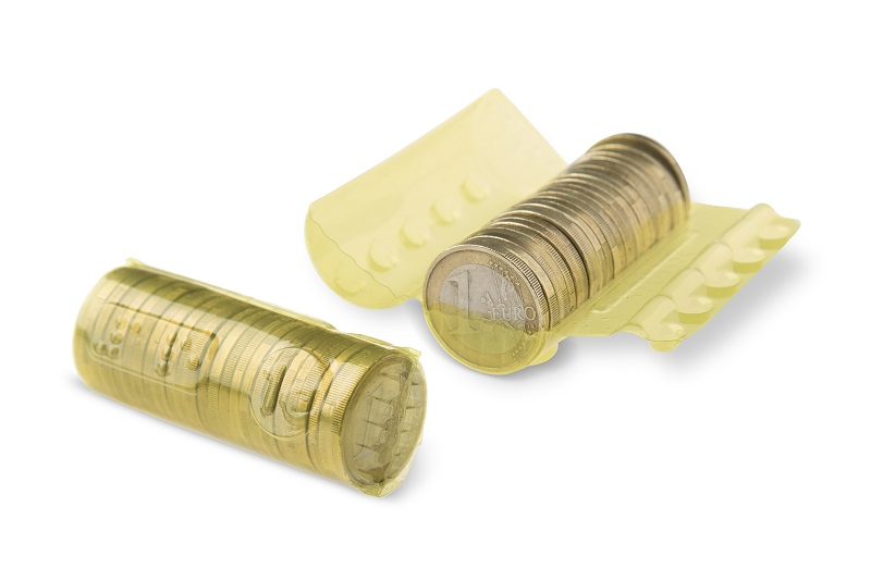 Plastic Coin Wrappers for Euro Coins