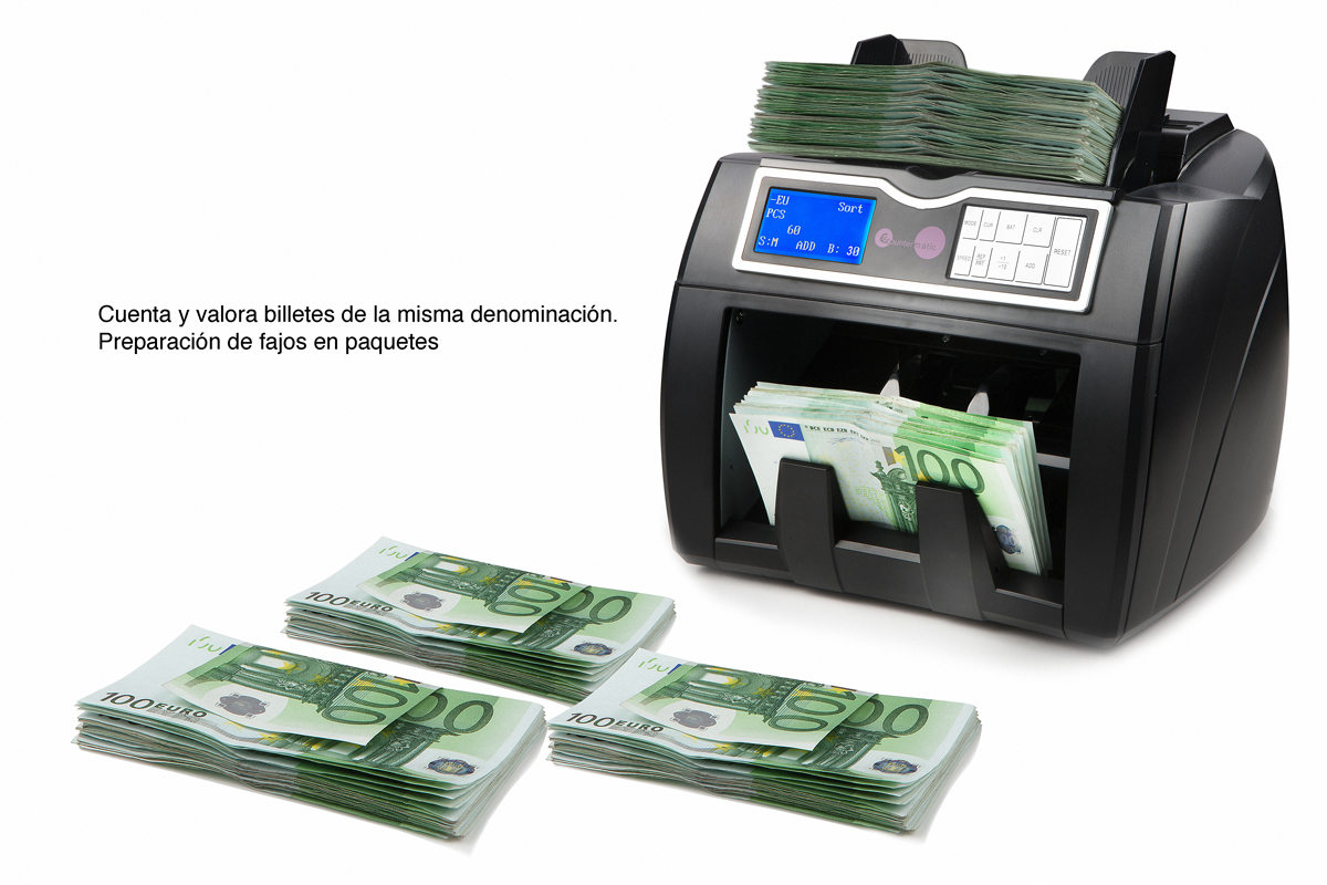 Purchase bank note counter in Madrid.