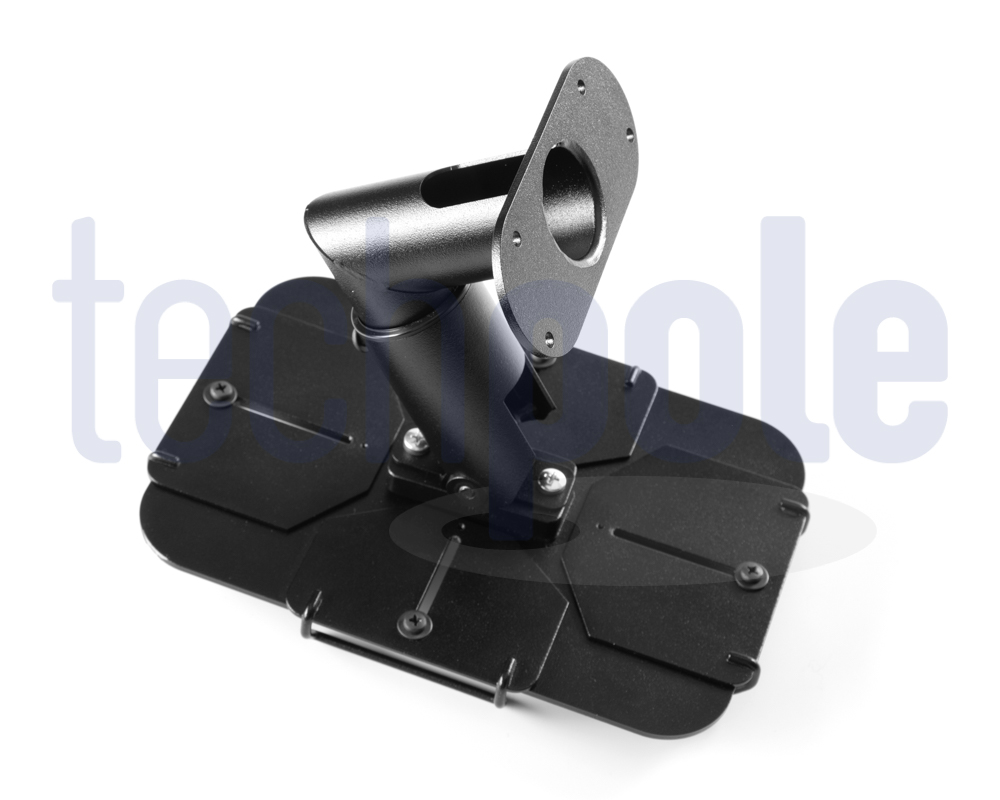 Tablet stand with anti theft security system