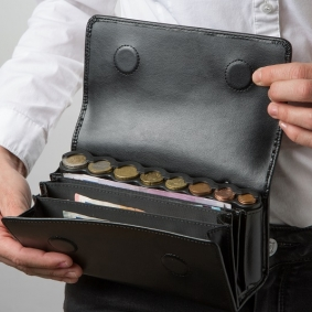 Waiter Cash Bag with Coin Dispenser and Belt