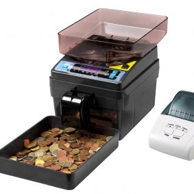 Cash Counters, Coin Counters, Coin sorters, Banknote Counters