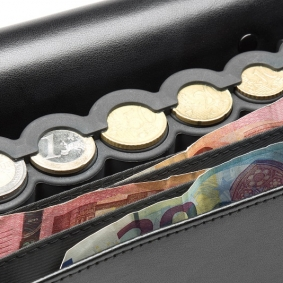 Coin & Note Leather Wallet with Coin Dispenser