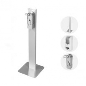 Hand sanitizer dispenser  mount for office building and bank branches