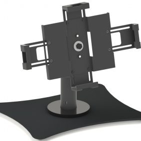 Desktop and wall tablet mounting solution
