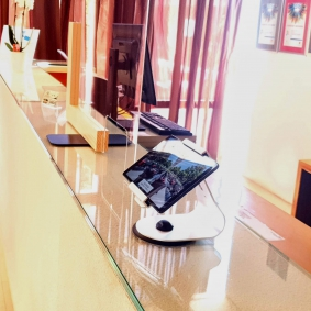 Universal security tablet holder for Bluesun hotels in Zagreb