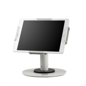 POS tablet stand for pharmacies.